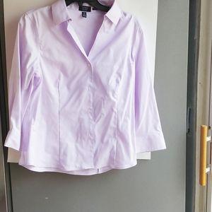 Jones New York easy care button up blouse medium